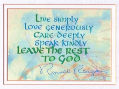 Live Simply... Leave the rest to God